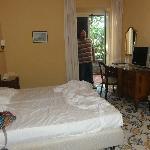 La chambre avec sa petite terrasse