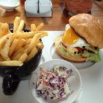 Wagyu beef burger at Fire during lunch (ala carte)