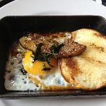 Seared pate from breakfast buffet