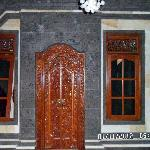 Real Balinese wood carved doors and original stonework