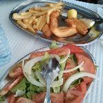 Fried Cuttlefish & Salad