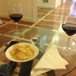 A great touch a glass of Brunello at the hotel