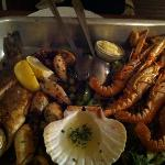 the seafood platter served in a restaurant recommended by Andrea