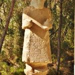 The statue of the Hittite king who owns the palace