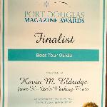 "2011 PD Business Awards Finalist ""best tour guide"""