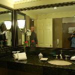 large vanity area in bathroom
