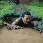 me doing the mud crawl!