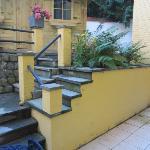 Downstairs studio patio