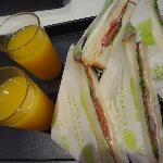 vegetarian sandwich in the room
