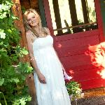 Beautiful bride at the bungalow