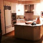 1st class kitchen (sub zero fridge, ge monogram stove top, oven & microwave plus dishwasher)