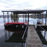 Dock and canoe