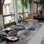 The buffet at breakfast
