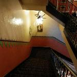 Stairway during Halloween.