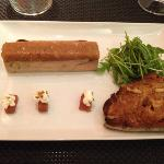 foie gras compotee pomme coing