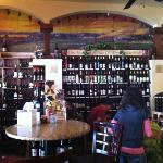 nice cozy restaurant with collection of wines