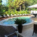 Vista dal ristorante della piscina