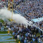 UNC football player's entrance