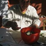 Necip making delicious Turkish borek