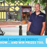 We're very energy efficient - just ask our GM! :)