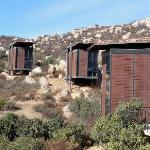 "A view of the ""pods"", cabins or lofts"