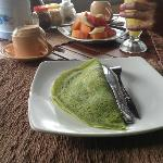 Yummy green banana pancakes