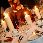 Autumnal table centres
