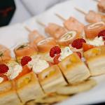 Canapes for a wedding at Llansantffraed