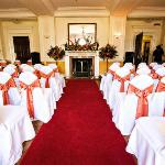 Clytha Suite set up for a Civil Ceremony