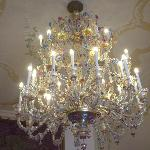 Glass chandilier