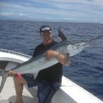 A nice Juvenile Black Marlin and a happy angler