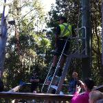 frank (one of the trainers) at the flying fox