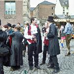 Some revellers at the Koln Festival 2012