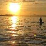 nothin like a sunset surf