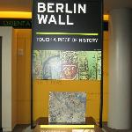 Eight actual sections of the Berlin wall plus an East German guard tower are in this exhibit