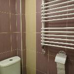 Modern bathroom with towel heater