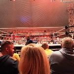 View of the ring from the 4th row