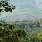 View of the agriturismo from Montepulciano