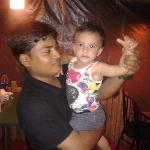 Suk Kumar with our daughter Zenia