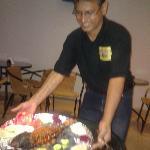 Prakash serving the delicious Tandoori Fish