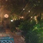 outside patio. great quite spot to get away for a smoke a call or read..