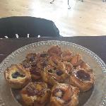 Homemade seasonal fruit tarts