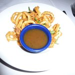 Delish Calamari dipping sauce at Aqua Sol