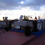 Rooftop-terrace at sunset