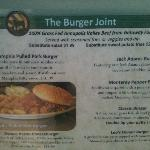 Outdoor sample menu