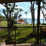 View from our room in the Honolua building