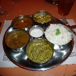 Delicious Thali -- a great way to sample a balanced variety of Kathmandu's dishes!thmandu's