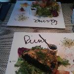 2 of the 3 dishes we had: Spinach tarte and croquettes