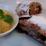 Apple Strudel with Pumpkin Ice Cream