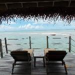 View from our Overwater Bungalow - deck